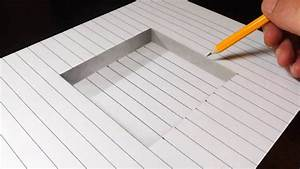How To Draw 3d Art On Paper Step By Step | www.pixshark ...