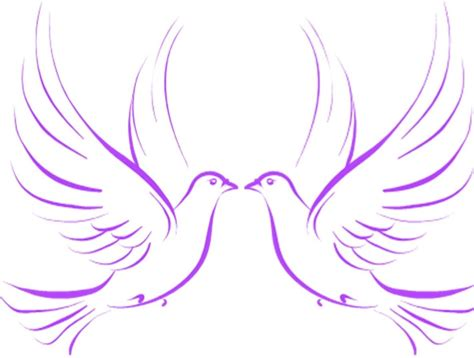 doves and rings clipart 36
