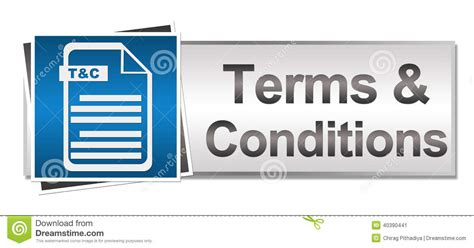 terms  conditions button style stock illustration