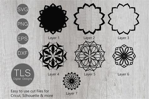 Multiple file formats are included. 3D Mandala Layered SVG (564118) | Cut Files | Design Bundles