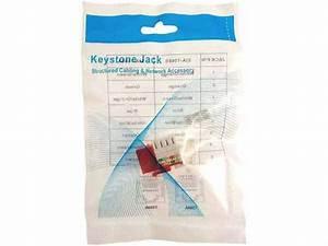 Cat5e Rj45 Modular Keystone Jack  110 Style  Red
