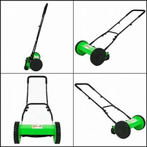 Manual Reel Mower Lawn Grass Push Behind Catcher Walk