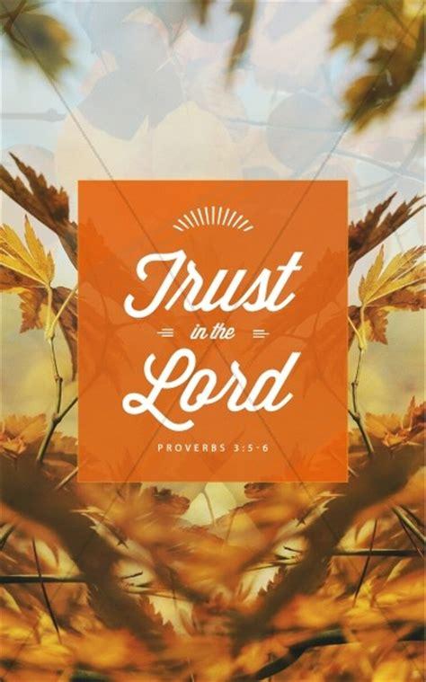trust   lord ministry church bulletin harvest fall