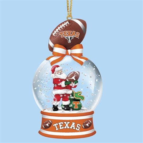texas longhorns snow globe ornaments the danbury mint