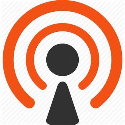 Icon Broadcast Radio Signal Broadcasting Wireless Clipart