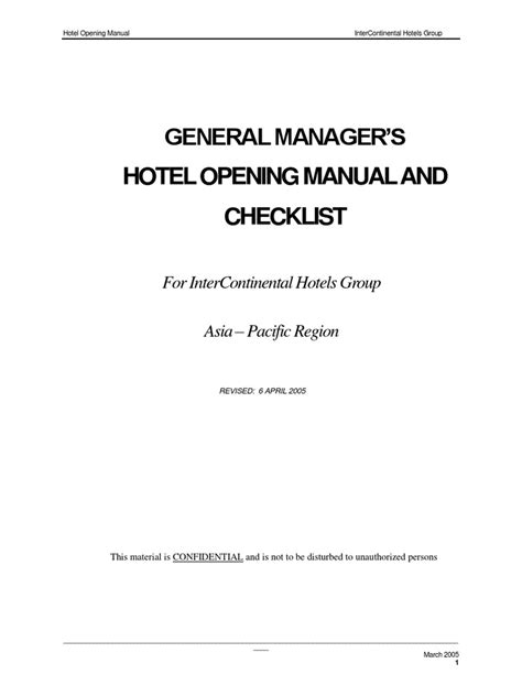 Hotel Opening Manual   General Manager   Advertising