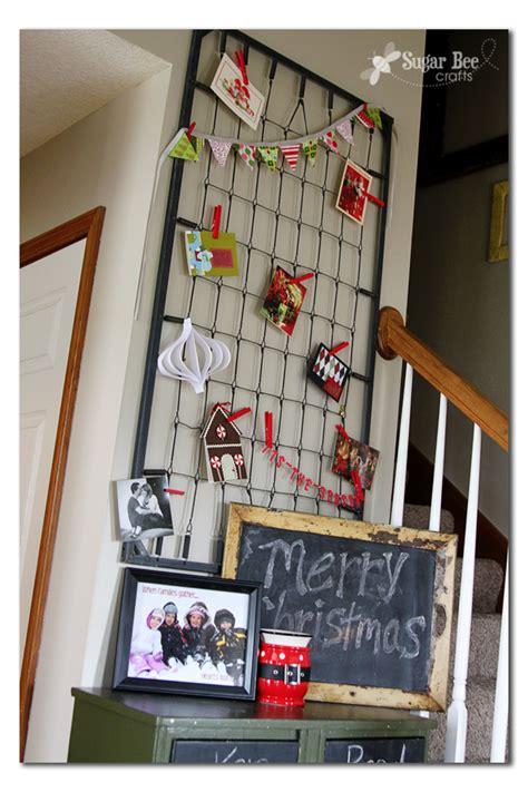 christmas card holder display holiday card holder sugar bee crafts