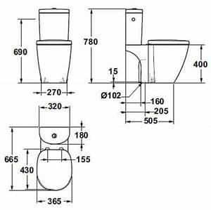 Wc Sortie Vertical : ensemble wc arc sortie verticale connect blanc ideal ~ Premium-room.com Idées de Décoration