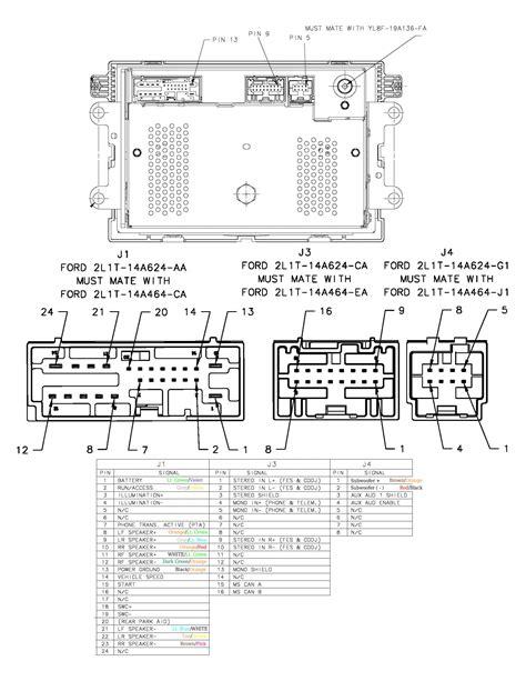 2001 ford mustang radio wiring diagram electrical