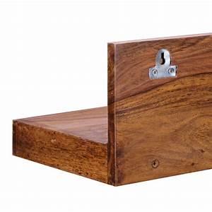 Regalbrett Holz Natur : wandregal mumbai massiv holz sheesham holzregal 80 cm m bel star ~ Frokenaadalensverden.com Haus und Dekorationen