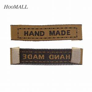 hoomall brand 100pcs brown woven labels garment shirt With embroidered labels for crafts