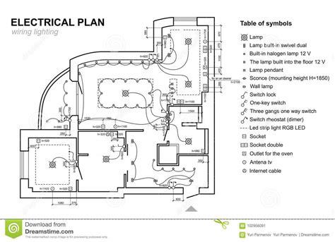 Plan Wiring Lighting Electrical Schematic Interior Set