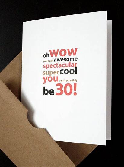 30th Birthday Husband Son Card Wife Daughter