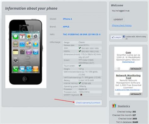 iphone warranty check how to check your mobile phone is imei sim lock carrier