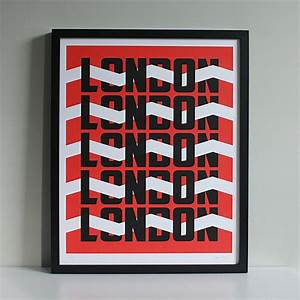 london red limited edition screen print alfred wilde With where to get documents printed london