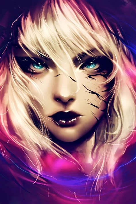 wallpaper fantasy girl gwenom digital art  creative