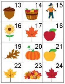 Free Printable Fall Calendar Numbers