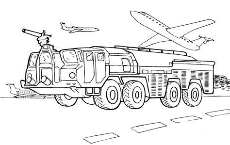 coloring page fire aerodrome car