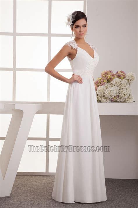 lace cap sleeve bridesmaid dresses floor length floor length chiffon lace cap sleeve wedding dress bridal