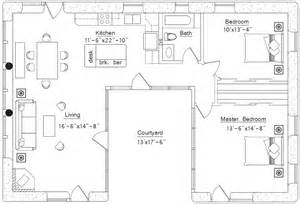 U Shaped House Floor Plans Photo by Courtyard Earthbag House Plans