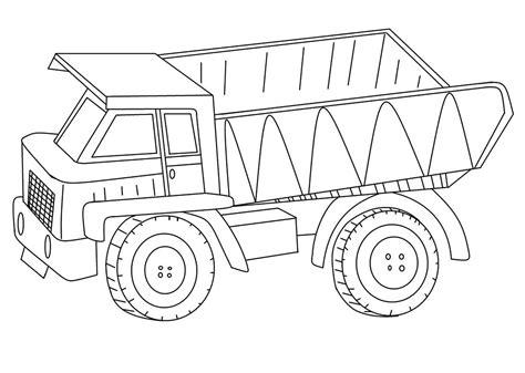 gambar mewarnai gambar mobil truk untuk anak