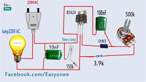 How Make Light Dimmer Circuit Using Bta