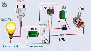 How To Make Light Dimmer Circuit 220v Ac   Using Bta24 Triac