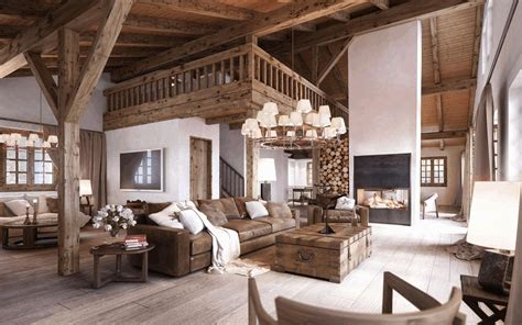 rustic country living room white wooden laminate