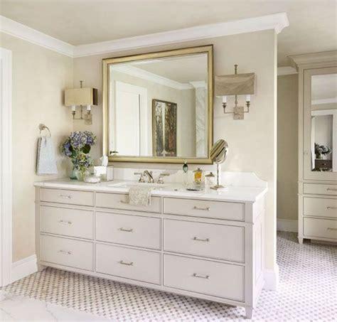 bathroom counter decor ideas cabinet color stony ground 211 farrow and