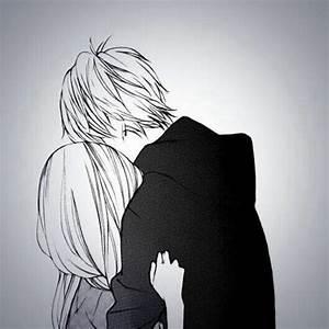 anime boy and girl hugging tumblr - Tìm với Google   Anime ...