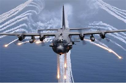 130 Gunship Ac Vertical Lockheed Military Background