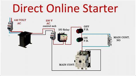 single phase dol starter wiring diagram webtor me