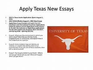Apply texas essays 2018