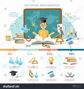 Education Infographic Elements Student Learning Vector ...