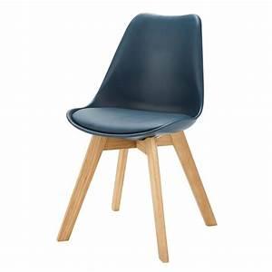 Chaise Bleu Marine : chaise scandinave bleu marine ice maisons du monde ~ Teatrodelosmanantiales.com Idées de Décoration