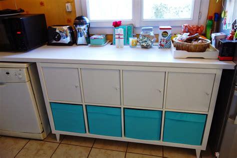 meuble de cuisine laqué diy un coin rangement pour la cuisine avec kallax