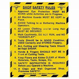 "Shop Safety Rules - Wood Shop - 17-1/2"" x 22"""
