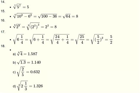 roots of real numbers and radicals questions with solutions for grade 10