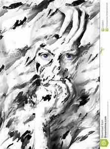 Peinture En Noir Et Blanc : portrait noir et blanc sexy de femme en peintures image stock image du magnifique fond 37422621 ~ Melissatoandfro.com Idées de Décoration