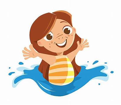 Swimming Pool Ocean Playing Clipart Sea Vector