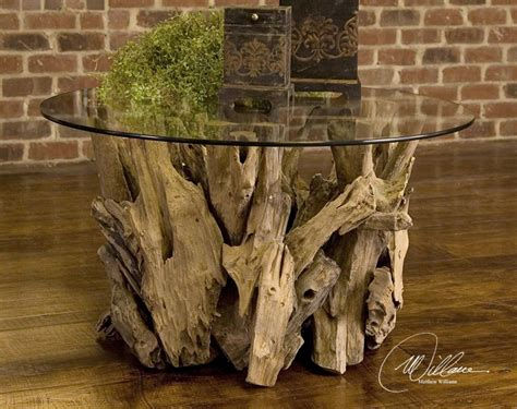 Round coffee tables are classic in any home making it look great. Driftwood Glass Top Round Cocktail Table | Zin Home
