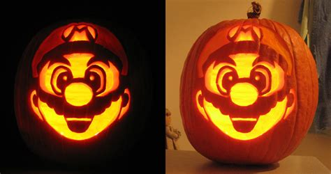 pumpkin carving mario i know it s not the best but i m proud of my mario pumpkin gaming