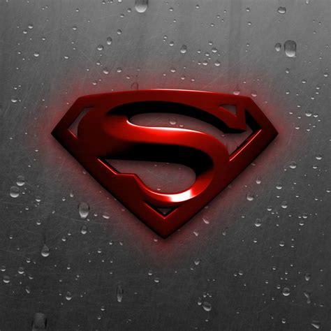 superman logo black  red wallpaper