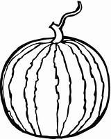 Watermelon Coloring Clipart sketch template