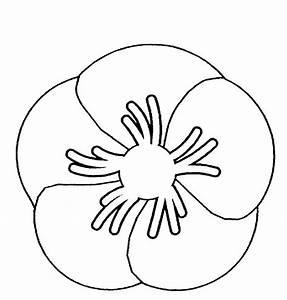 Poppy Flower Line Drawing - ClipArt Best