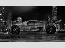 4K Koenigsegg Regera Side Crystal City Car 2015 el Tony