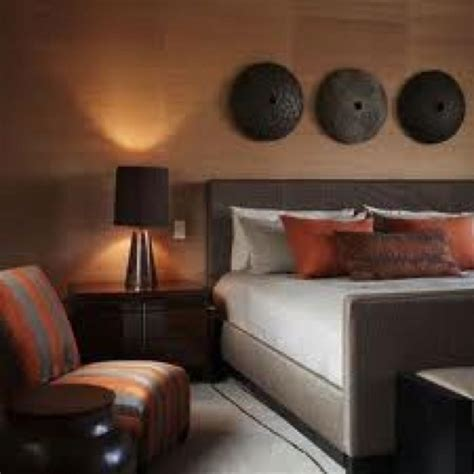 Bedroom Burnt Orange Wallpaper by 17 Best Images About Master Bedroom On Orange