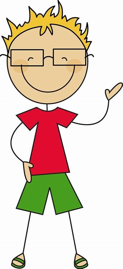Stick Boy Figure Clipart Clip Person Figures