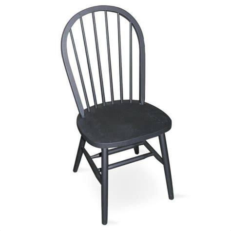 spindleback wood side chair in black finish c46 212