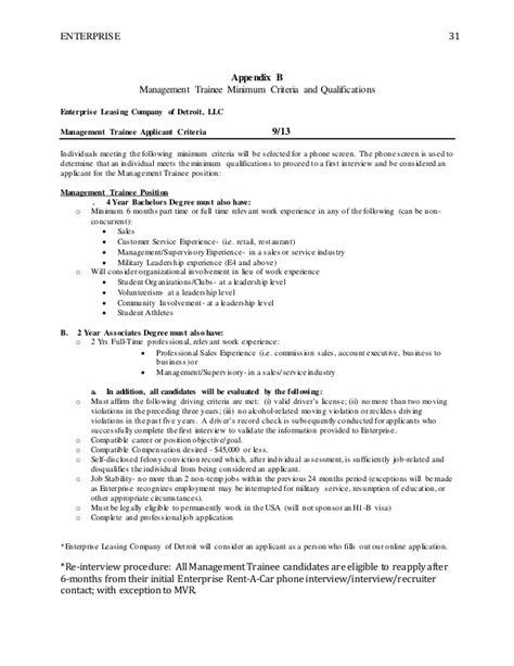 Enterprise Management Trainee Resume by Enterprise Management Trainee Resume Sle